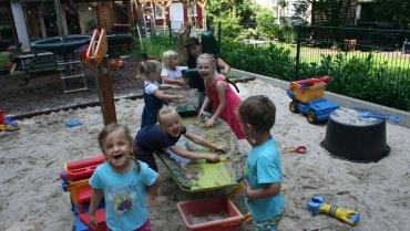 Eine neue Matschanlage für den Kindergarten